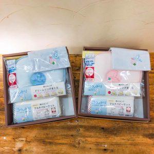 ドラマ「コウノドリ」と西川リビングのコラボ商品。マルチベビーケット、ドリームリングまくら、ミニタオルが入荷しました。