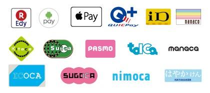贈物広場セノヲ山崎店では、各種クレジットカードを始め、様々な電子マネーをご利用頂けます。楽天Edy、Android Pay、Apple Pay、QUICPay、iD、nanaco、Kitaca、Suica、PASMO、tolca、,manaca、ICOCA、SUGOCA、nimoca、はやかけん